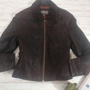 Oakwood Classic Leather Moto Fitted Coat